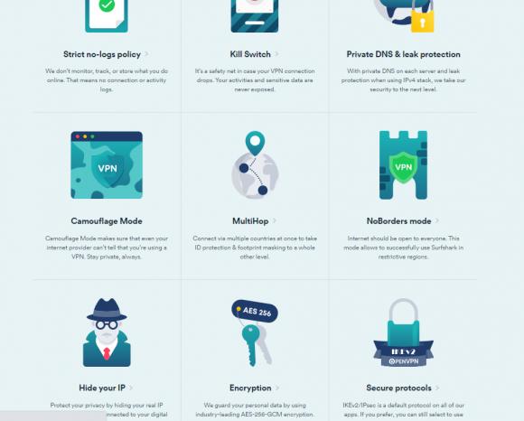 Surfshark VPN Features