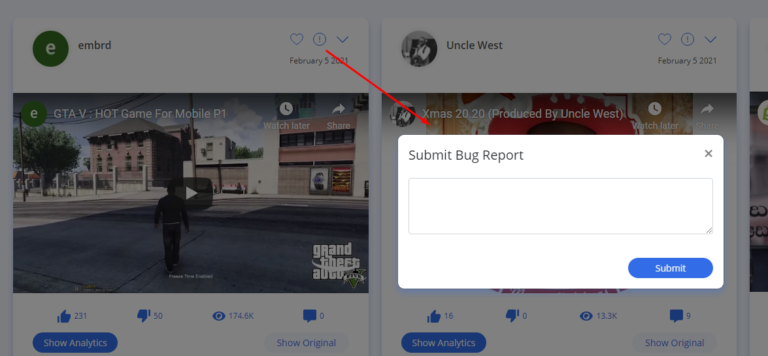 Submit Bug Report