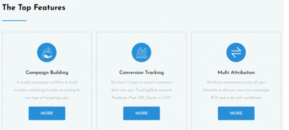 Features of TrackingDesk