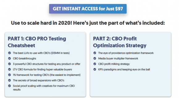 Ultimate CBO Blueprint Pricing