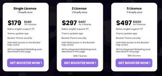 Booster Theme Pricing