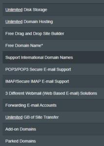HostMonster Features