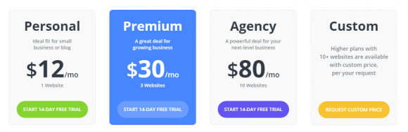 10Web pricing