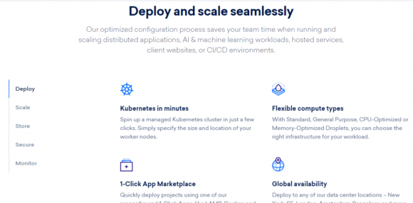 DigitalOcean Features