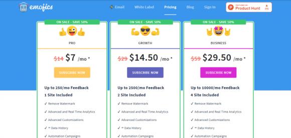 Emojics Pricing