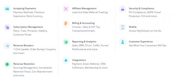 Features of PayKickstart