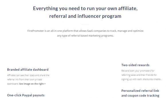 FirstPromoter Features