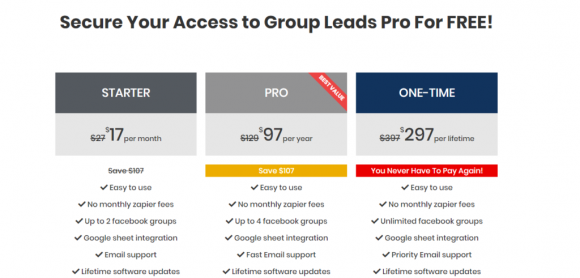 Group Leads Pricing