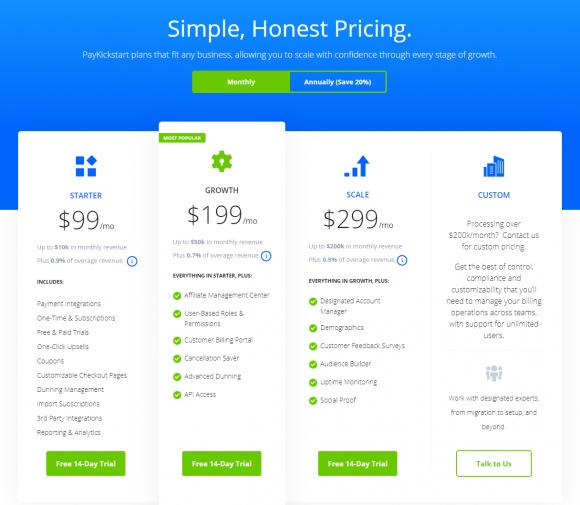 PayKickstart-pricing