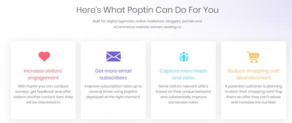 Poptin-Features