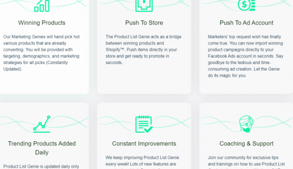 Product List Genie Features