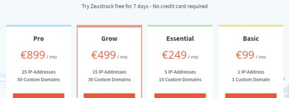 Zeustrak Pricing