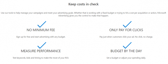 Bing Ads Pricing