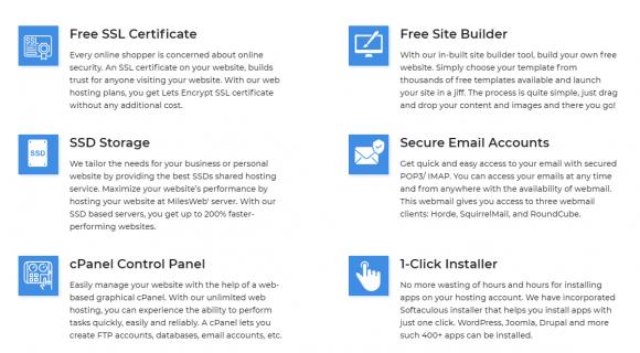 MilesWeb Features