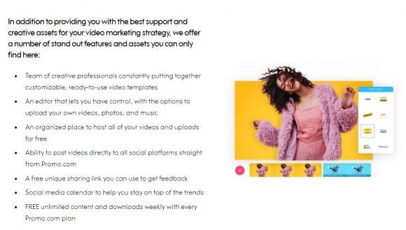 Promo.com Features