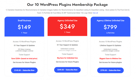 Pricing for Plugins