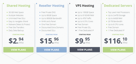 WebHostFace Pricing