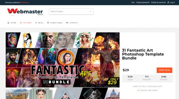 Webmaster deals