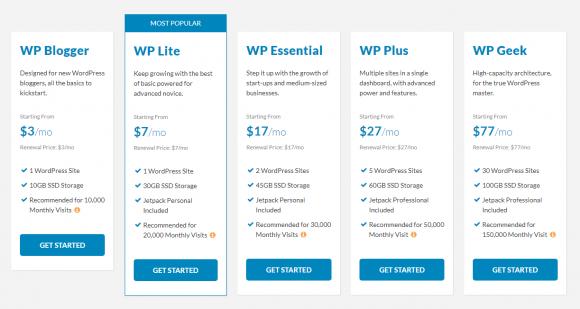 wpwebhost-pricing